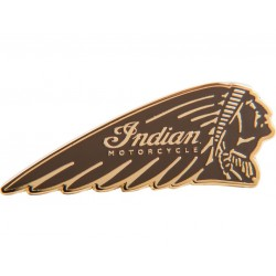 Indian Brown Headdress Pin Badge